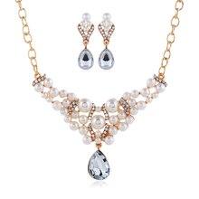 54ef4bfda1b4 Compra teardrop pearl necklace earring set y disfruta del envío ...