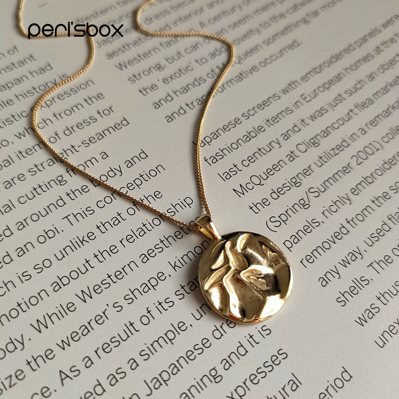 Gold Coin Necklace Girly Gift Coins Jewelry Gold Filled Minimal Boho Coin Charm Necklace Silver 925 Dainty Gold Disc Necklace