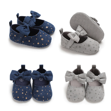 Non-Slip Baby Girl Shoes Toddler Newborn Infant Baby Shoes Soft Cotton Bowknot Princess First Walkers Shoes Flower Star schoenen cheap faitolagi Canvas Butterfly-knot Spring Autumn Slip-On floral Rubber Fits true to size take your normal size
