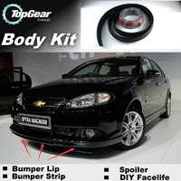 For Chevrolet Optra J200 2002~2008 Bumper Lip Lips / Top Gear Shop Spoiler For Car Tuning / TOPGEAR Recommend Body Kit + Strip