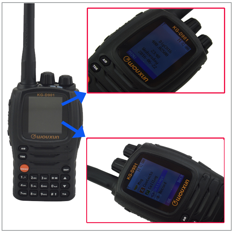 2016 Nuovo KG-D901 UHF 400.000-470.995 MHz DMR Digitale Wouxun Walkie Talkie KG D901 1000CH Two Way Radio