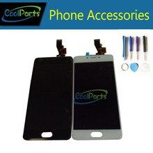 1 PC/Lot de Alta Calidad Para Meizu M3S Pantalla LCD Y Pantalla Táctil de Color Blanco Y Negro de Repuesto Con Herramientas