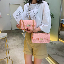 цена на 2019 Summer PVC Female Mini Chain Jelly Bag Women Diamond Lattice Small Flap Bag Girl Casual Clutch Silicone Bag Shoulder Bags