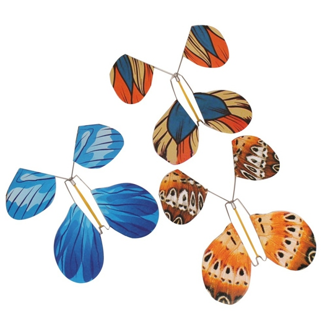 50pcs Metal Bone The Magic Butterfly Flying Butterfly Toy Amazing