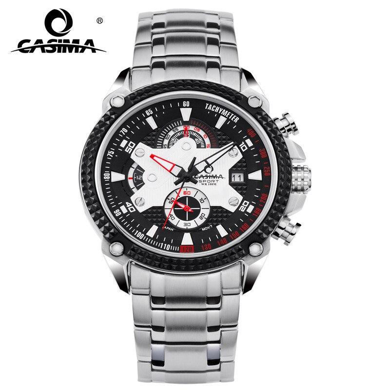 CASIMA Brand Fashion Watches Men Casual Charm Luminous Sport Multi-function Quartz Stopwatch Waterproof 100m #8207 все цены