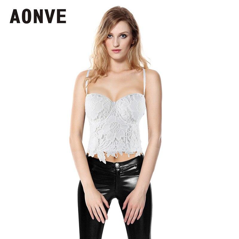 Image 5 - AONVE Women Steampunk Corset Bra Tops White Black Lace Bralette Push up Bras for Women Waist Trainer Slimming Underwear Bra Top-in Bustiers & Corsets from Underwear & Sleepwears