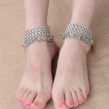 New foot jewelry fashion Exaggeration ankle bracelet Punk Anklets Small bell anklets for women SWXFR139.