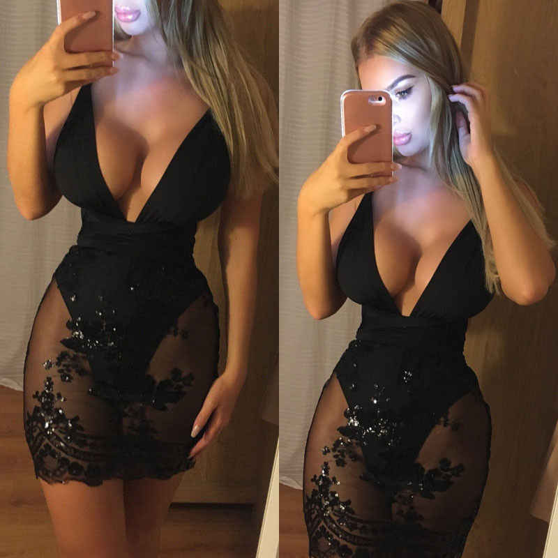 80089f7875 Sexy Sleeveless Shing Dress Women Sequin Bodycon Dress Bandeau ...