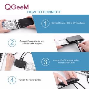 Image 4 - QGEEM SATA to USB 3.0 IDE Adapter USB2.0 Sata Cable for 2.5 3.5 SATA IDE Hard Disk Drive Adapter USB C OTG HDD SSD USB Convert