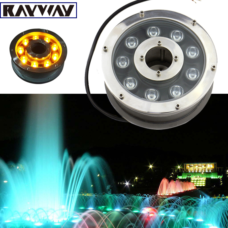 RAYWAY 6W 12W 18W Outdoor LED Pond light IP68 Waterproof LED fountain light AC/DC12-24V Swimming Pool lamp Decorative lighting high power led pool light free shipping ip68 fountain light 6w 24v ac led underwater light lpl b 6w 24v