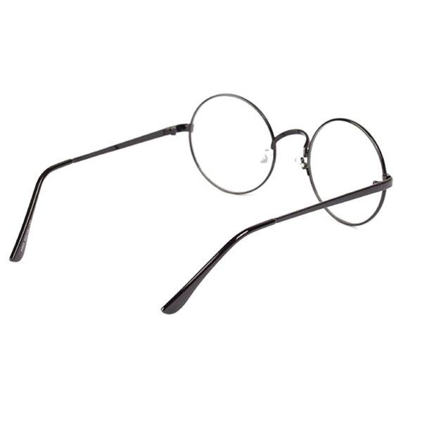 Fashion Retro Round Lingkaran Logam Bingkai Kacamata Lensa Kacamata Unisex  di Frame kacamata dari Pria Pakaian e34554ac70