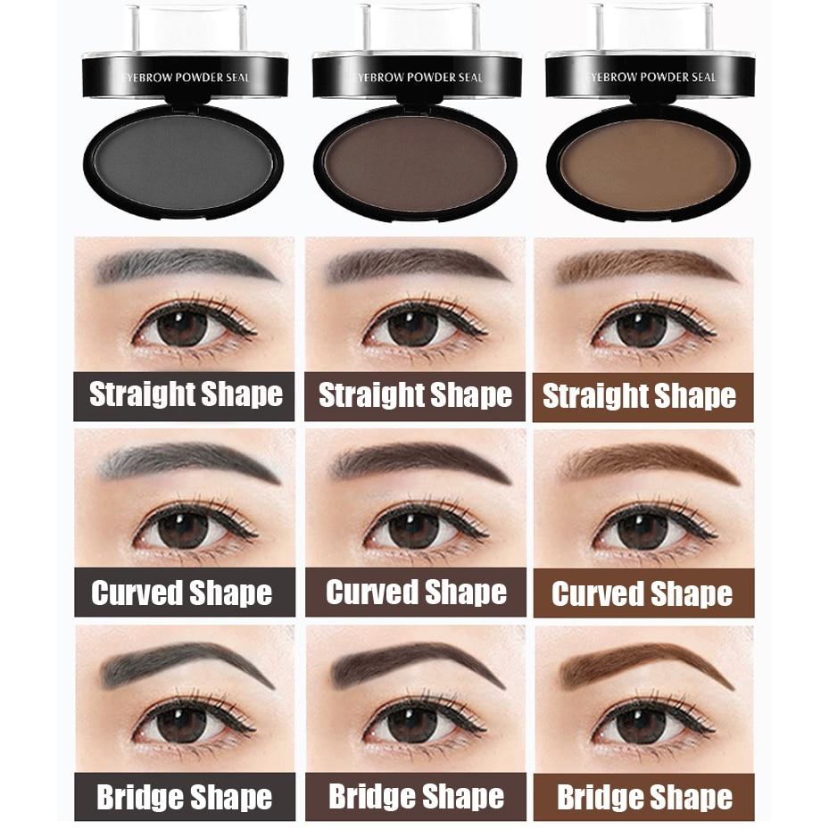 Eyebrow Powder Waterproof Seal Eyebrow Stamp Eyebrow Shadow Set