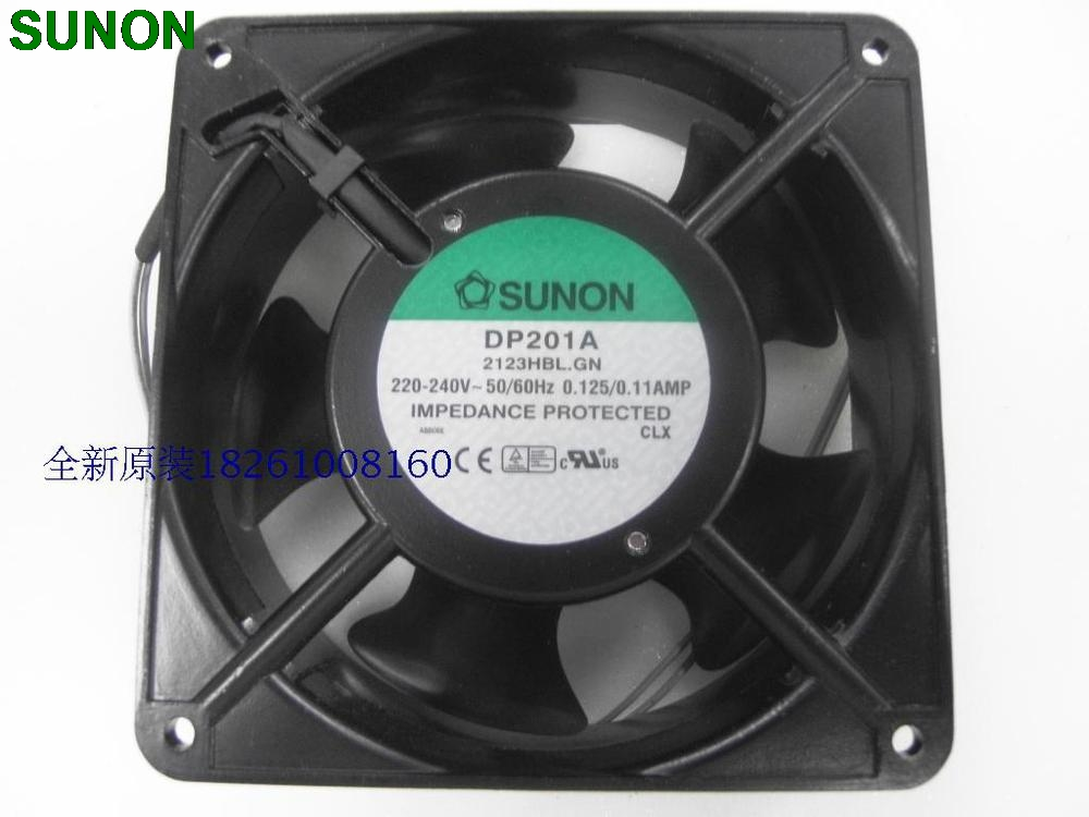 Sunon DP201A 2123HBL.GN  12CM 120*120*38MM 12038 1238 220V wire type delta afb1212hhe 12038 12cm 120 120 38mm 4 line pwm intelligent temperature control 12v 0 7a