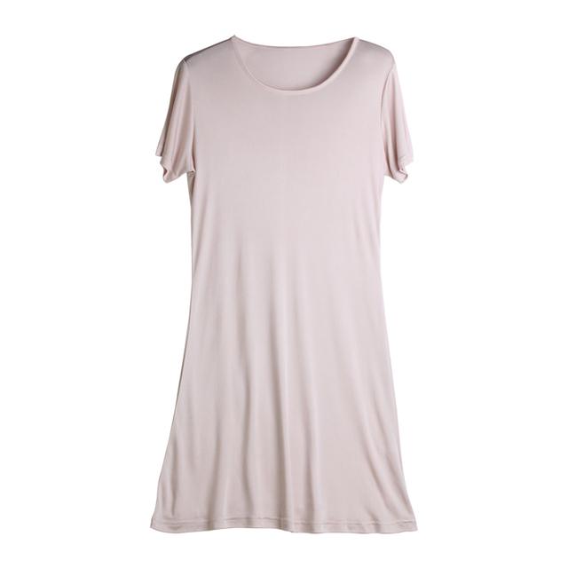 Women Full Slips 100%REAL SILK short sleeve slip Solid nude white black Anti emptied dress new underwear Comfortable 2017 New