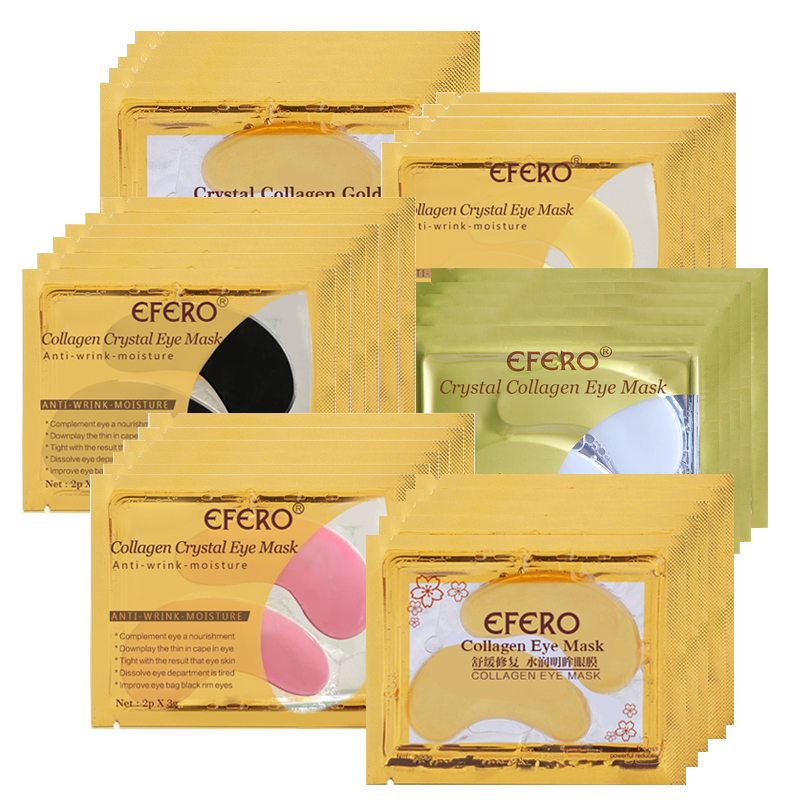 EFERO 5pair=10pcs Collagen Eye Mask Eye Pads Skin Care Hydrogel Patches For Eyes Mask Anti Dark Circle Anti-Puffiness Face Mask
