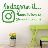 Instagram Il Nous Suivre Wall Sticker Decal Parfait Pour Bureau Vitrine