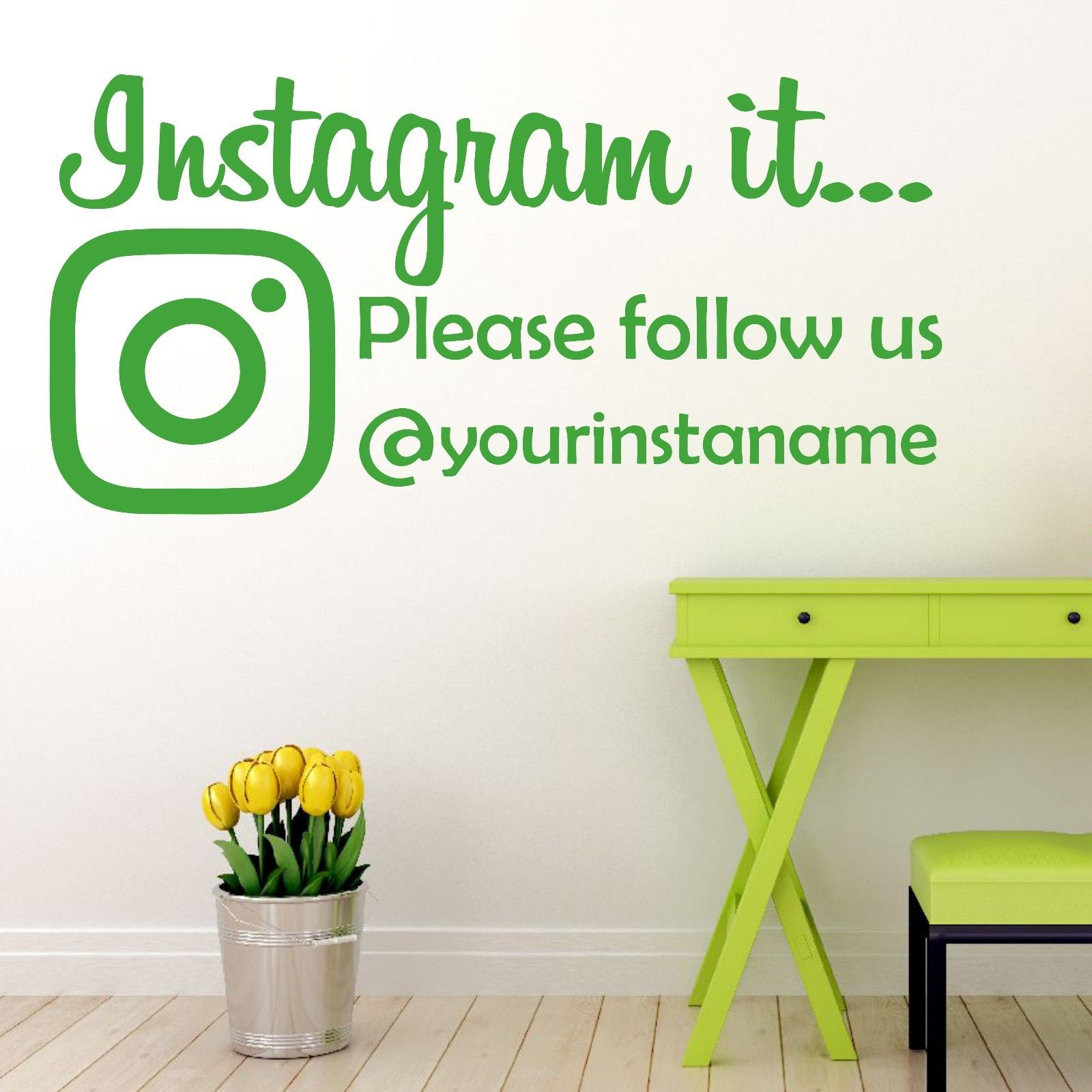 Instagram It Follow Us Wall Sticker Decal Perfect For Office Shop Window