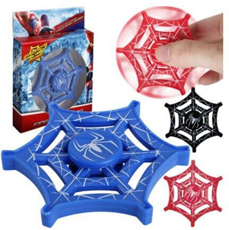100 шт./лот DHL Бесплатная доставка EDC Человек-паук ручной Spinner Человек-паук веб-Стиль Спиннеры СДВГ Spinner игрушка ce Сертификация