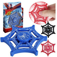 100pcs/lot DHL Free Shipping EDC Spider Man Hand Spinner Spiderman web Style Fidget Spinner ADHD Spinner Toy CE Certification