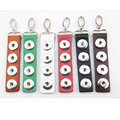 Wholesale Snaps Keychain Jewelry Leather Snap Button Keychains Fit 18mm Snap Buttons For DIY Gift 5pcs