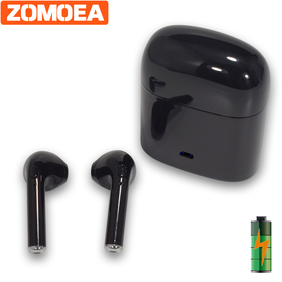 ZOMOEA Bluetooth Headphones Wireless Headphone Sports Bass Bluetooth Earphone With Mic For Phone IPhone Xiaomi With Charging Box kz zs5 bluetooth headphone wireless sport noise canceling earphone amplifer with mic heavy bass high quality for boy for samsung