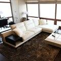 Топ Корова диван из натуральной кожи в европейском стиле секционные гостиной диван угловая мебель для дома диван l-образный функциональный ...
