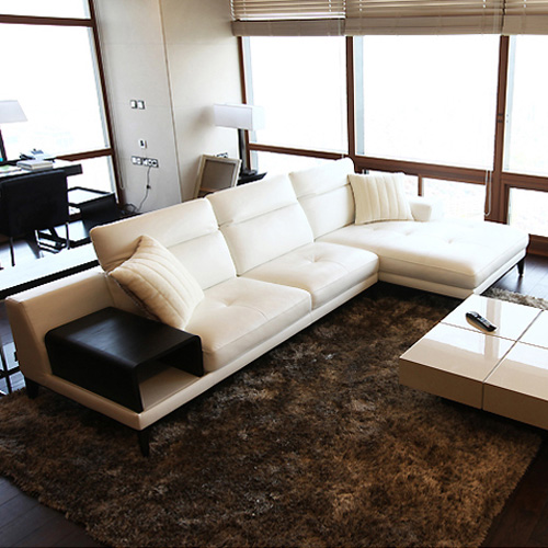 top cow real leather sofa sectional living room sofa corner home furniture couch L shape functional backrest fashionable style free shipping european style living room furniture top grain leather l shaped corner sectional sofa set orange leather sofa