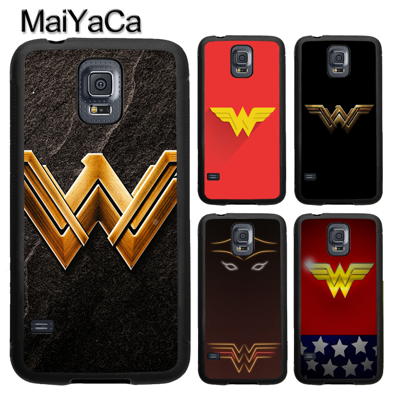 MaiYaCa WONDER WOMAN Logo Phone Case For Samsung Calaxy S4 S5 S6 S7 Edge Note 8 5 4 TPU Case For Samsung S8 S9 Plus Cover