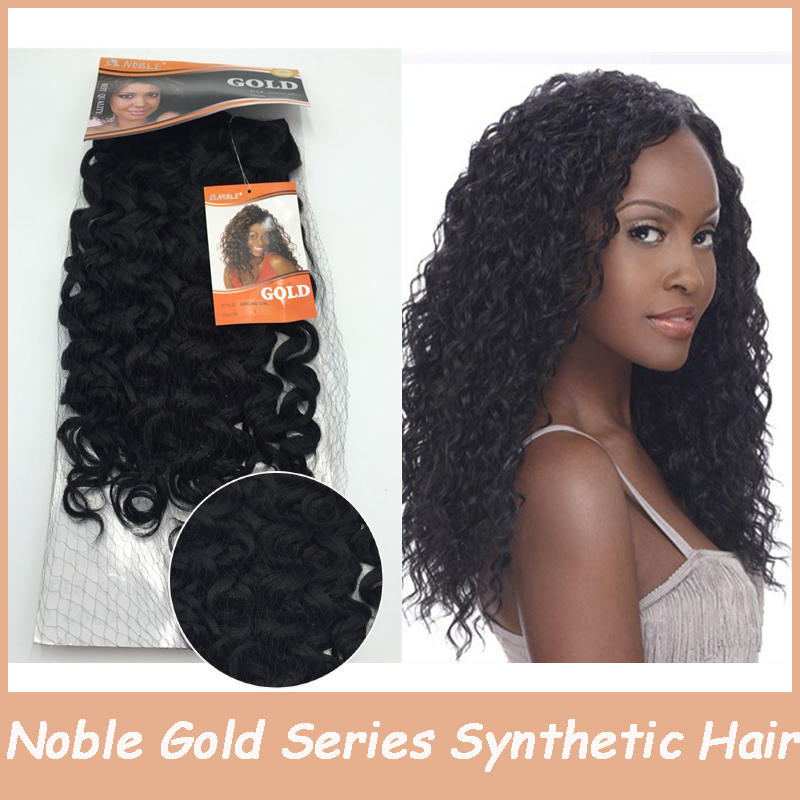 1pc Noble Gold Kinky Curly Synthetic Hairpiece Synthetic Afro Hair