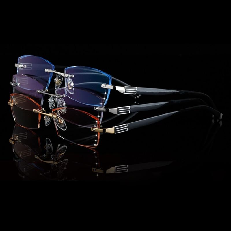 Famous Designer Rimless Eyeglass Frames For Men High Clear Lenses ...