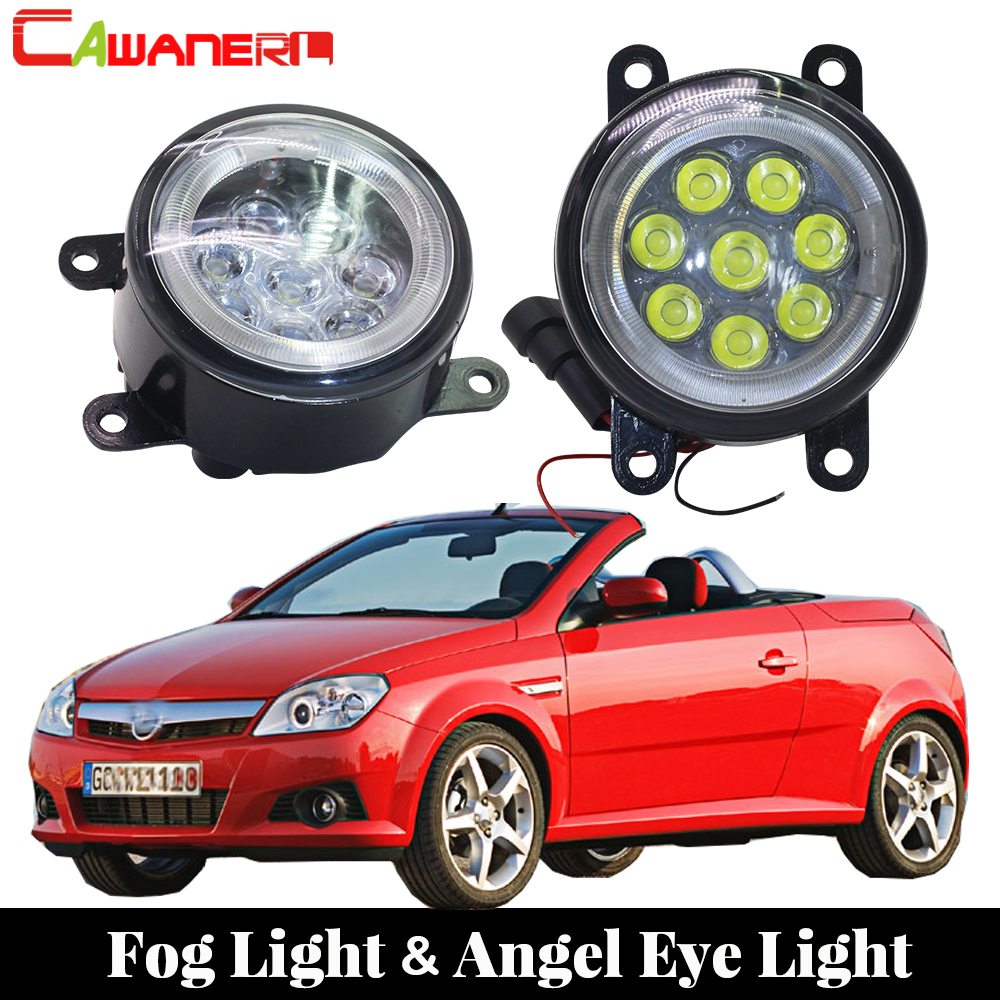 Cawanerl For 2004 2005 2006 Opel Tigra TwinTop Convertible Car Styling LED Fog Light Lamp Angel Eye Daytime Running Light DRL car styling for audi a6 c6 4f 2004 2005 2006 2007 2008 6 leds drl led daytime running lights car fog cover bumper light