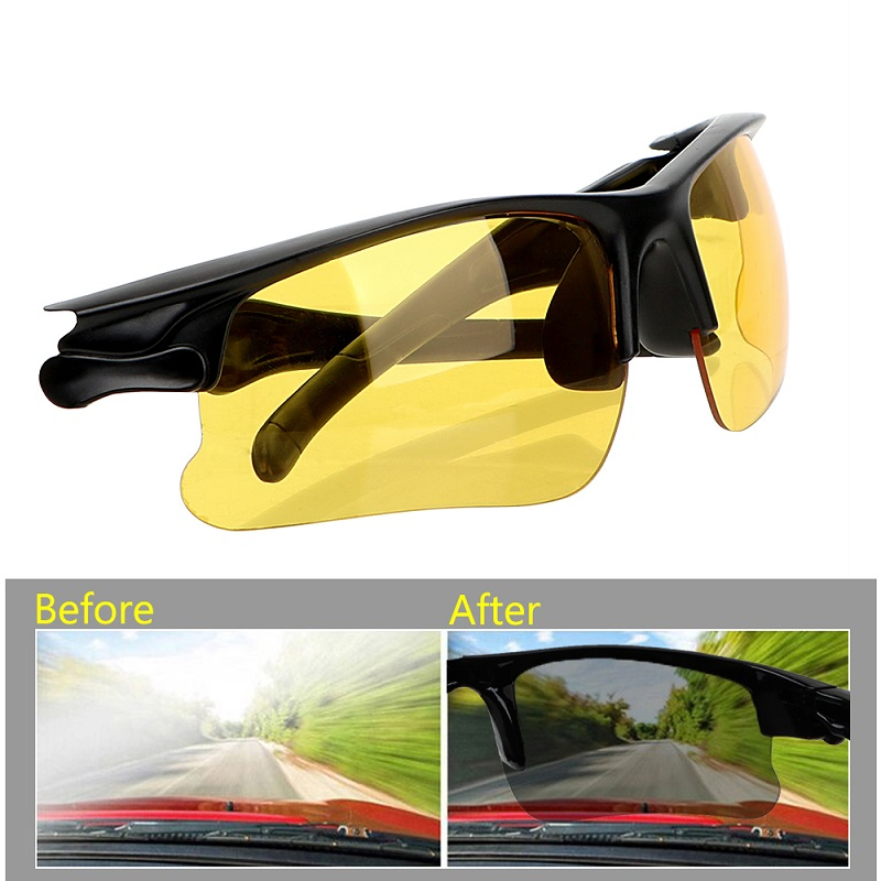 Drivers Night Vision Goggles Anti-glare Night-Vision Driving Glasses Protective Sunglasses Interior Accessories