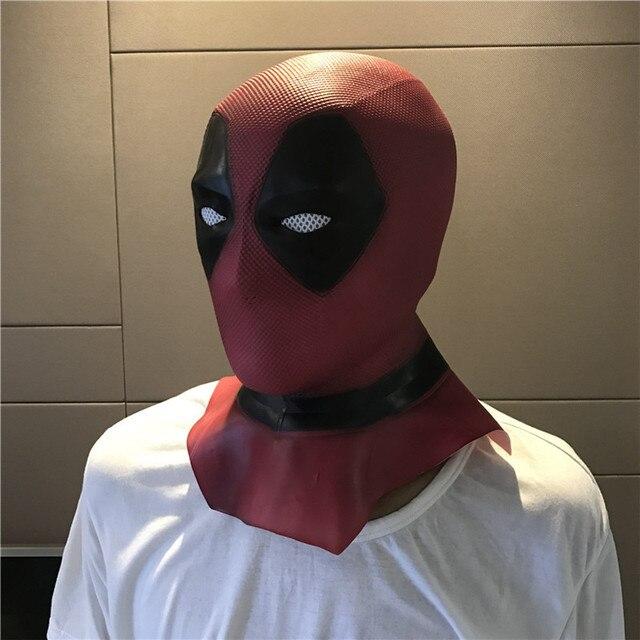 Deadpool 2 Máscaras Rosto Cheio Capacete Halloween Cosplay Adereços Máscara De Látex Máscara de Filme de Super-heróis Brinquedos Colecionáveis Máscara Facial