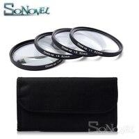 Набор фильтров для макросъемки объектива + 1 + 2 + 4 + 10 с фильтром для камеры Canon Nikon sony DSLR