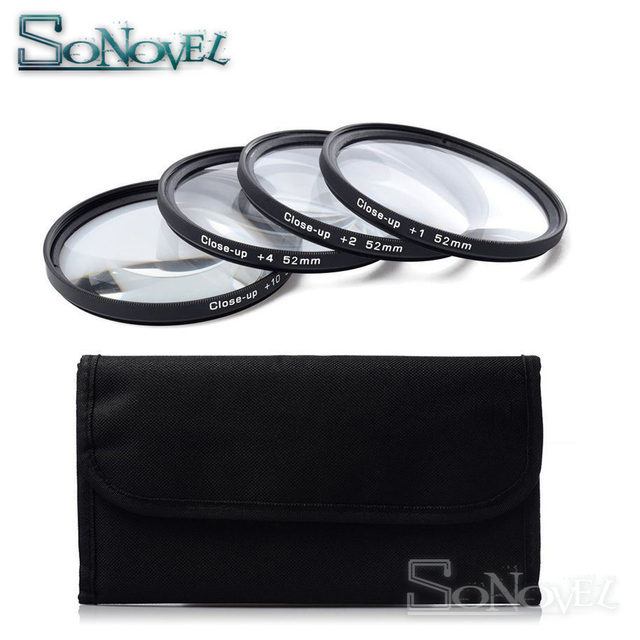 49 52 55 58 62 67 72 77 MM Macro Close-Up Filter Lens Set +1 +2 +4 +10 with Filter Case for Canon Nikon Sony DSLR Camera