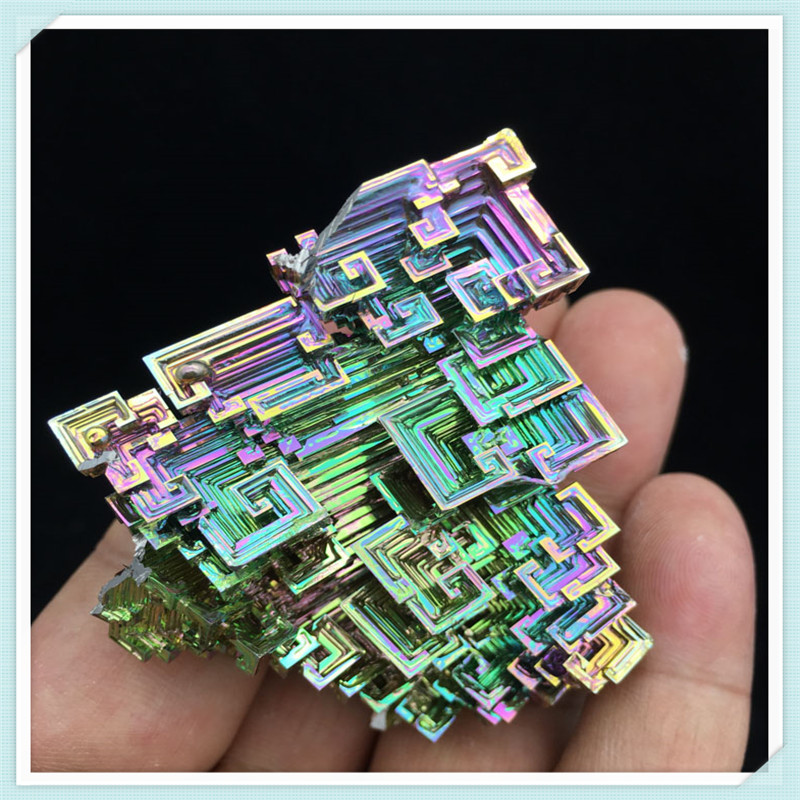Bismuth Crystals 93g Bismuth Metal crystal bismuth crystals bismuth bi metal crystal rainbow bright metal mineral specimen original nature art artwork decorative article
