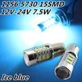 Cheetah Free shipping Car lights, 2x Super Bright 1156 BA15S 5730 7.5W Hi-Power Ice blue LED Car Signal Tail light Bulb