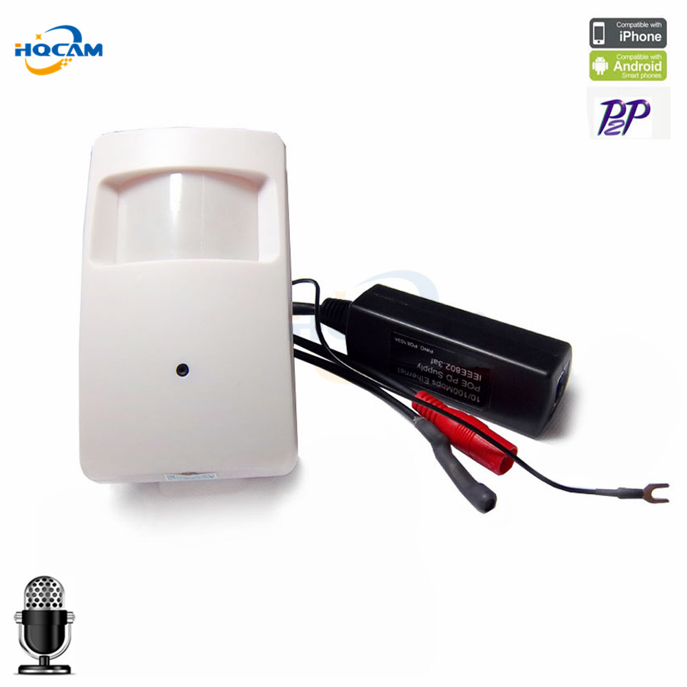 где купить 960P mini ip camera PIR Style Motion Detector pir camera ip 1.3MP ONVIF P2P Plug and Play Mini pir camera ip mini POE IP Camera дешево