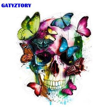 Gatyztory marco abstracto mariposa DIY Kits de pintura por números moderno cuadro sobre lienzo para pared regalo para la decoración de la casa