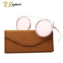 2017 New fashion round frame cat's eye sunglasses female brand designer retro sunglasses metal uv plated true sunglasses women