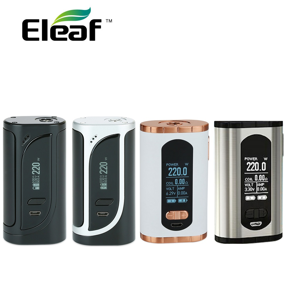 Eleaf Original evoque 220 W TC Box MOD Vs Eleaf IKonn 220 Box MOD 220 W Max Output No 18650 bateria Box Mod Vape Mod Vs IKuun I200