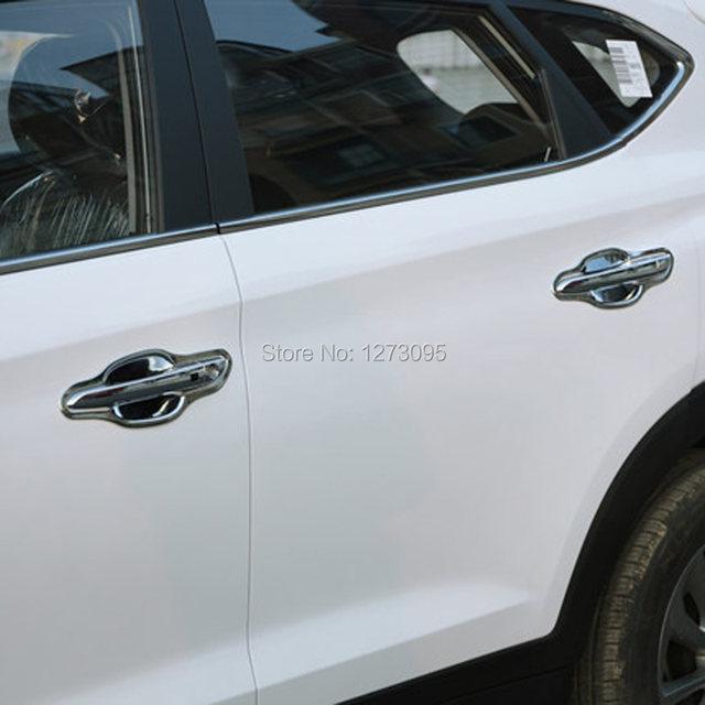 Online Shop For 2016 Hyundai Tucson Abs Chrome Car Door Handle Cover