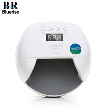 BLUERISE SUN7 Nail Lamp 48W UV LED Double Light Source Nail Dryer Machine with Smart Timer Memory and Sensor For Curing All Type
