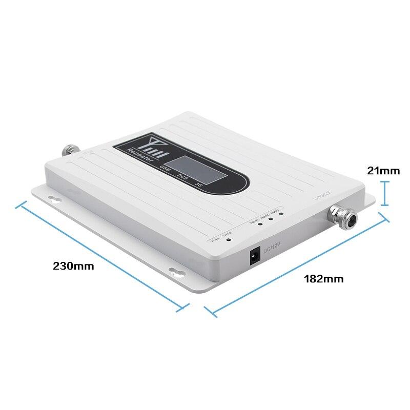 Signal d'appoint à trois bandes pour téléphone portable 4g LTE 1800 mhz 900 mhz 2100 mhz dcs gsm wcdma réseau de communication léger 70dB 2 pièces # - 4