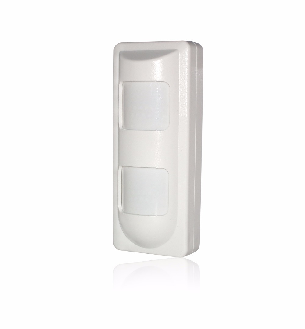433Mhz wireless outdoor intelligent digital PIR detector sensor with dual PIR Digital environmental temperature detector цена