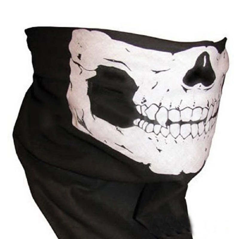 Outdoor Sports Fashion Skull Wicking Seamless Cycling Bike Bicycle Riding Veil Multi Head Scarf Face Masks Bandana Skull Scarves cheji stylish bike riding head scarf black white