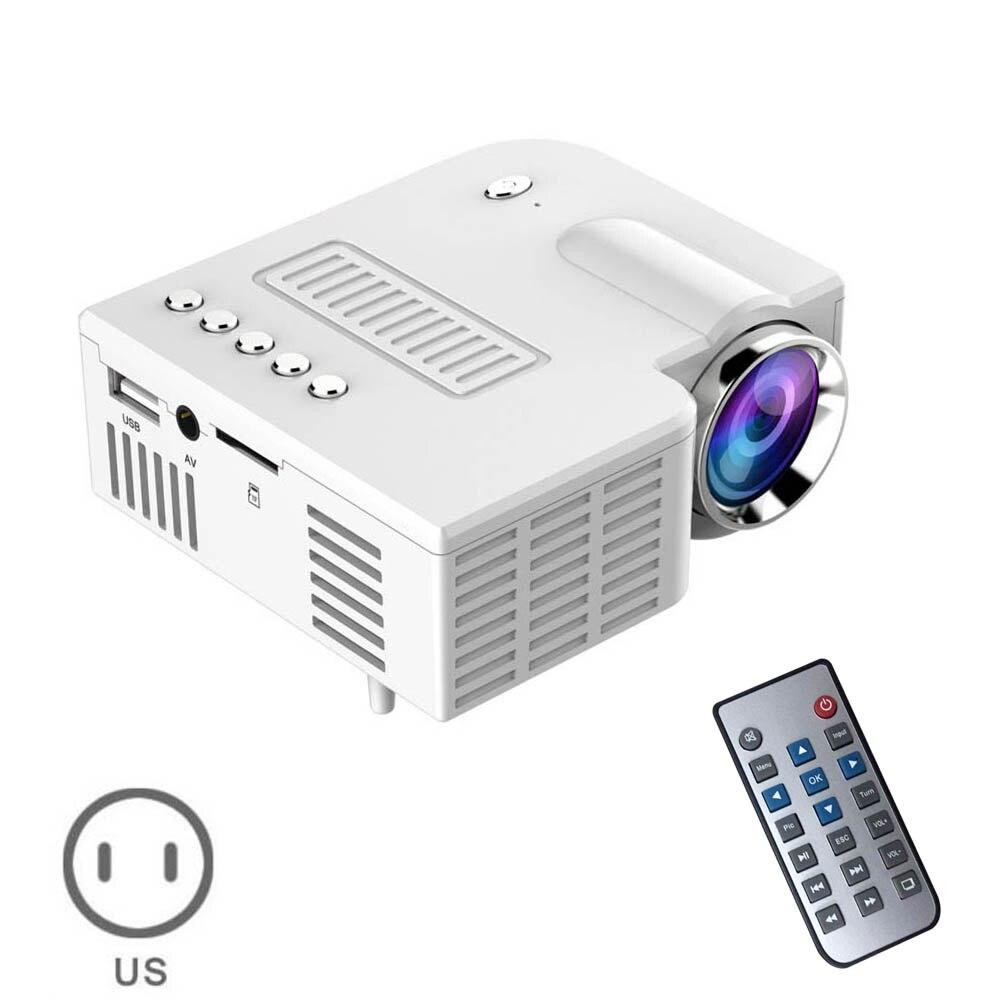 US Plug USB Portable UC28 PRO HDMI Mini LED Projector Home Cinema Theater AV VGA XXM8 rd 802 24w led hd home mini projector w hdmi vga usb remote control blue us plug