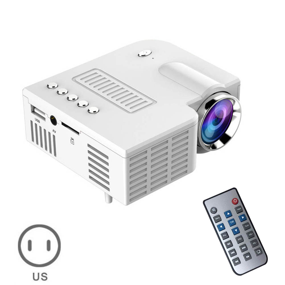 US Plug USB Portable UC28 PRO HDMI Mini LED Projector Home Cinema Theater AV VGA XXM8