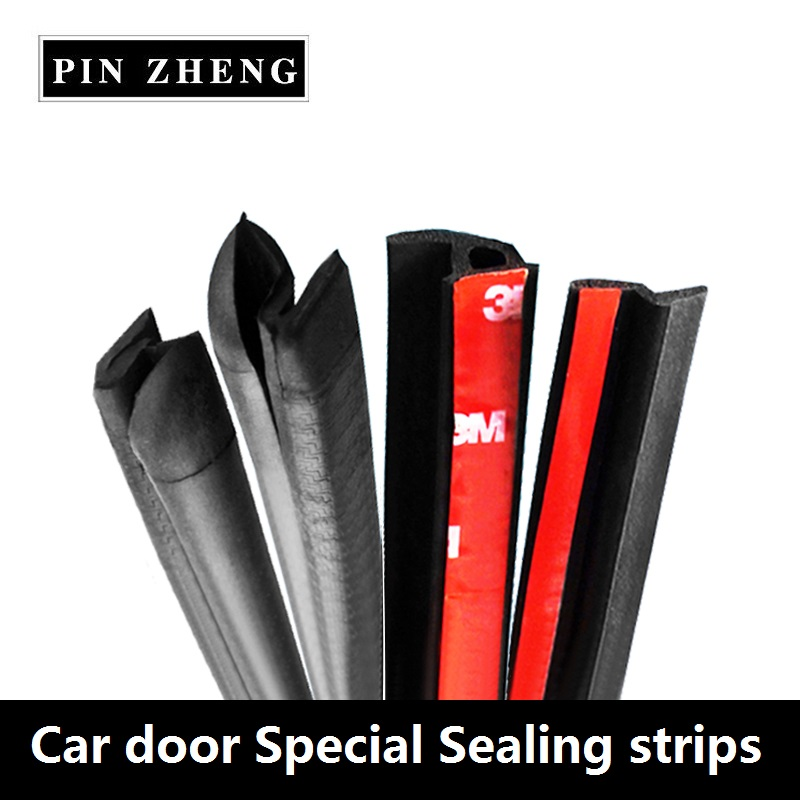 Car door special sealing strips noise insulation dustproof EPDM rubber seal Car-Styling Waterproof Trim Sound Insulation strips cawanerl car sealing strip kit weatherstrip rubber seal edging trim anti noise for nissan almera march micra note pixo platina