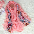 Vintage Embroidery Chinese Women's Cotton Scarf Shawl Flower Stole Cape Spring Autumn Hot Sale Wrap Hijab Chal 180*80 cm NS001